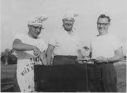 bw, cookout at rally