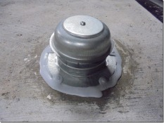 dycore flange seal around new vent cap repro