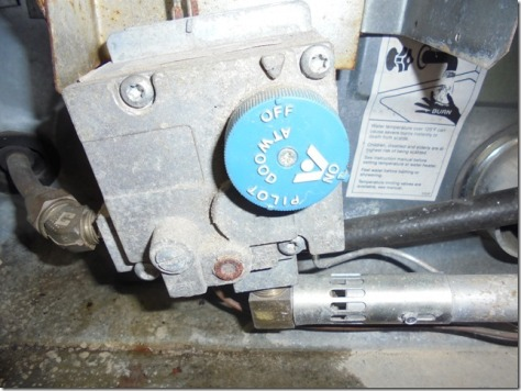 old hot water heater valve, needed new one