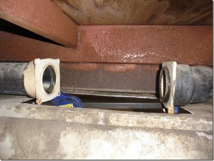 replacing new bayonet dump valve section