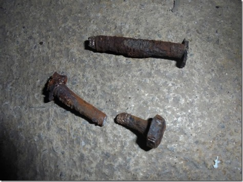 screws worn out from age, rust