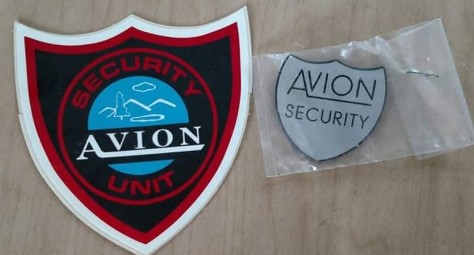 avion security items, sherry Holmes Kinzey