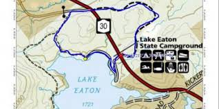 lake easton, closer map