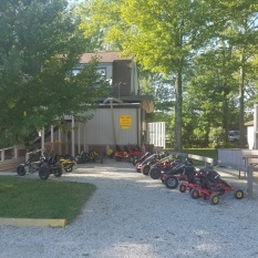 Rental pedal bikes corral